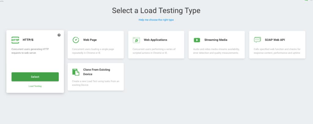 API load testing types