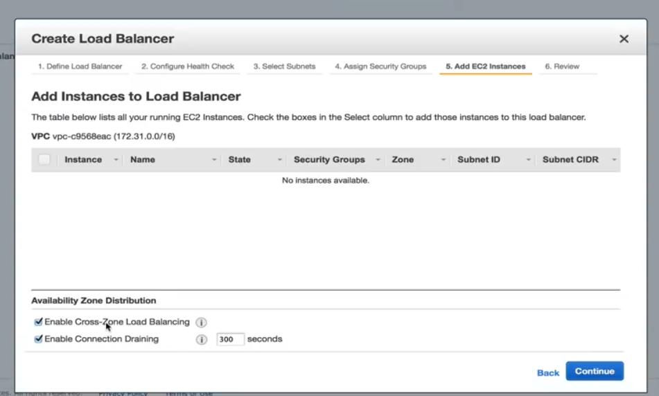 Add Instances to Load Balancer