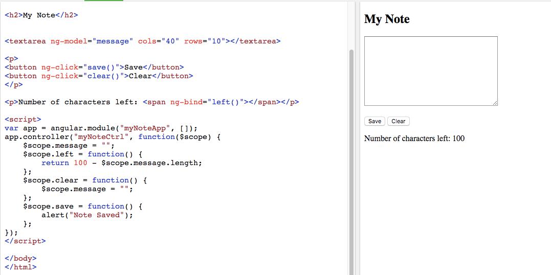 AngularJS message input