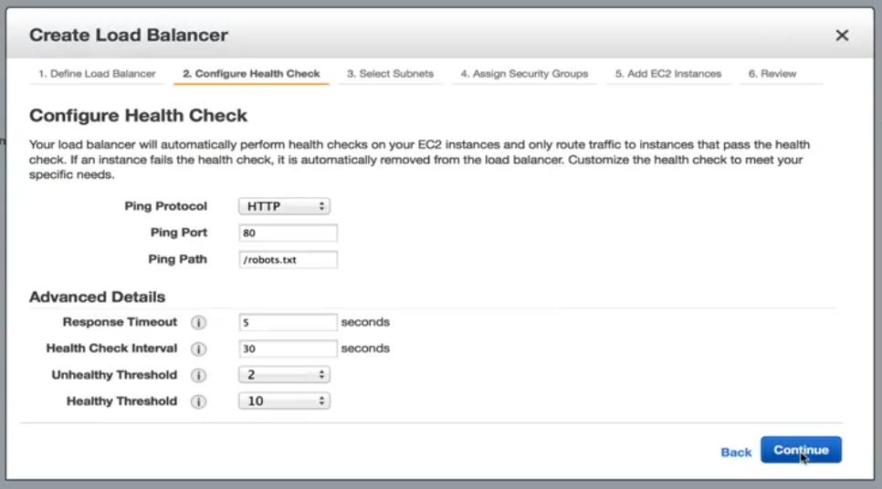 Configure Health Check