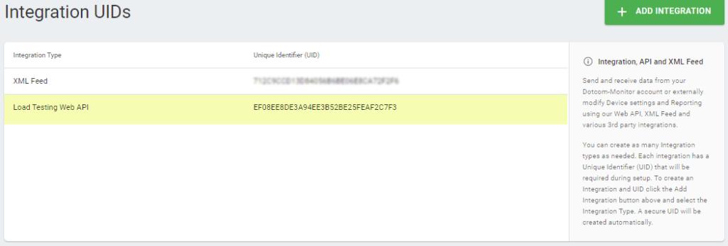 UID d'intégration Docker
