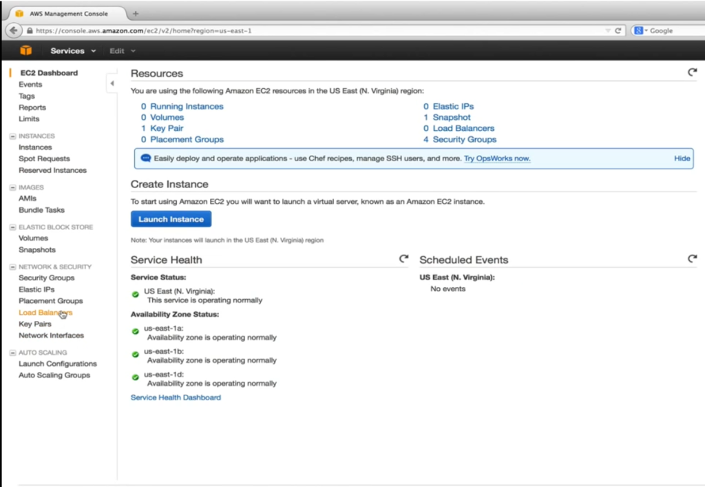 EC2 Dashboard_Network and Security