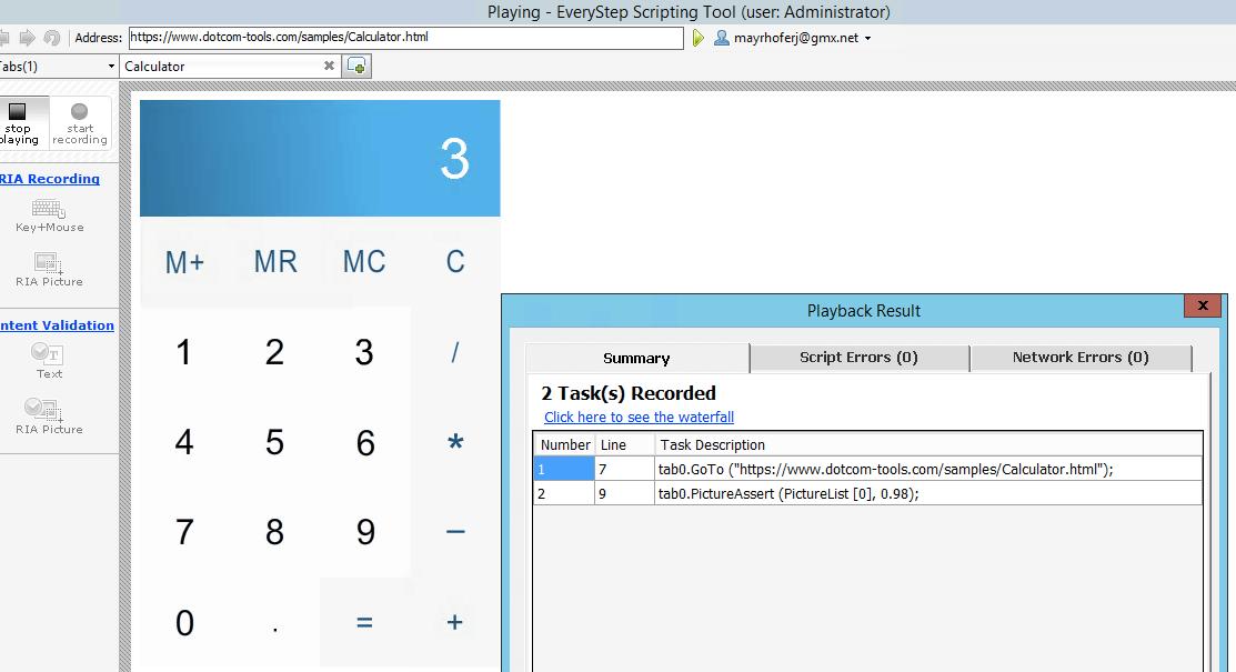 Flash Record a Test Script
