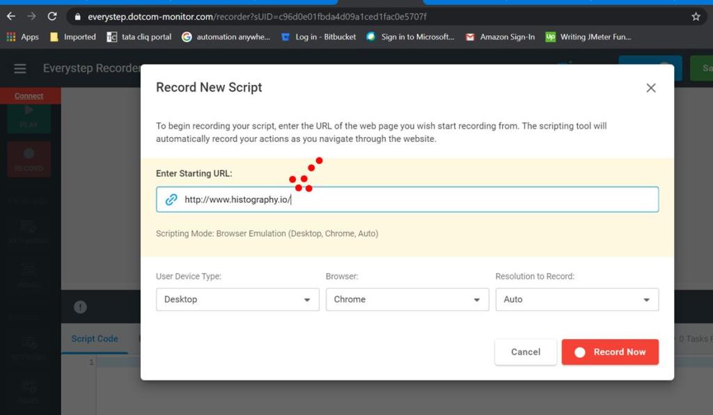 JavaScript Enter URL