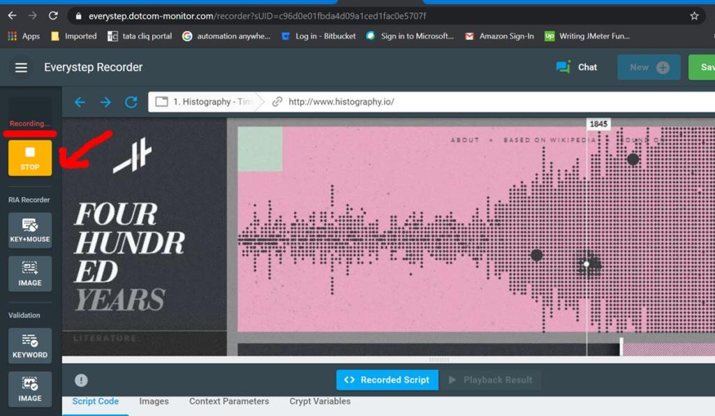 JavaScript Recording Started