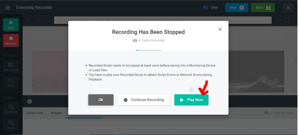JavaScript Stop Recording