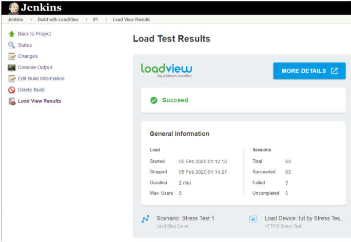 Jenkins Load Test