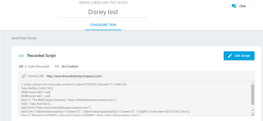 Load Test Device Disney