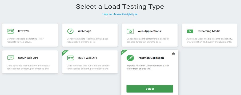 Load testing type Postman