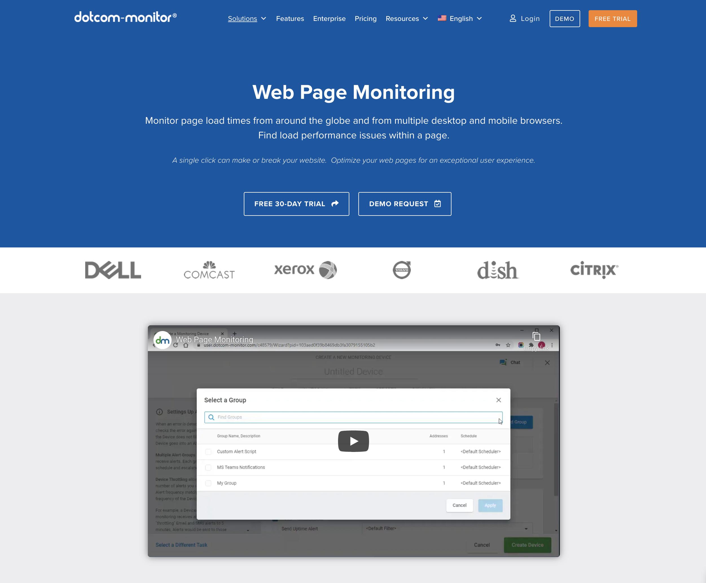 ウェブページの監視