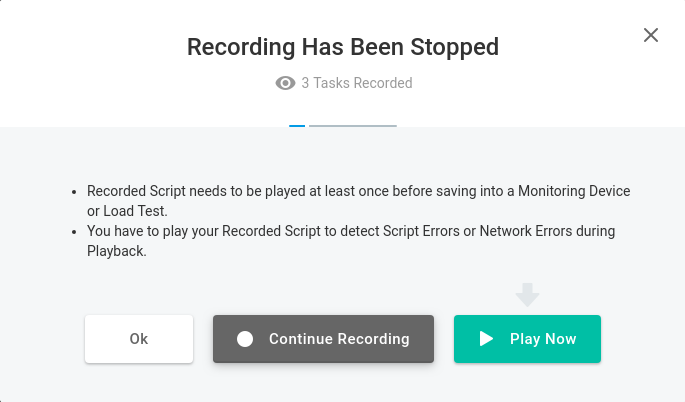 loadview recording has been stopped