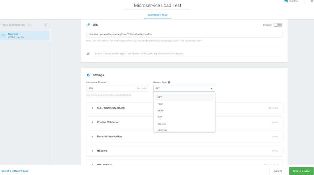 microservices configure task